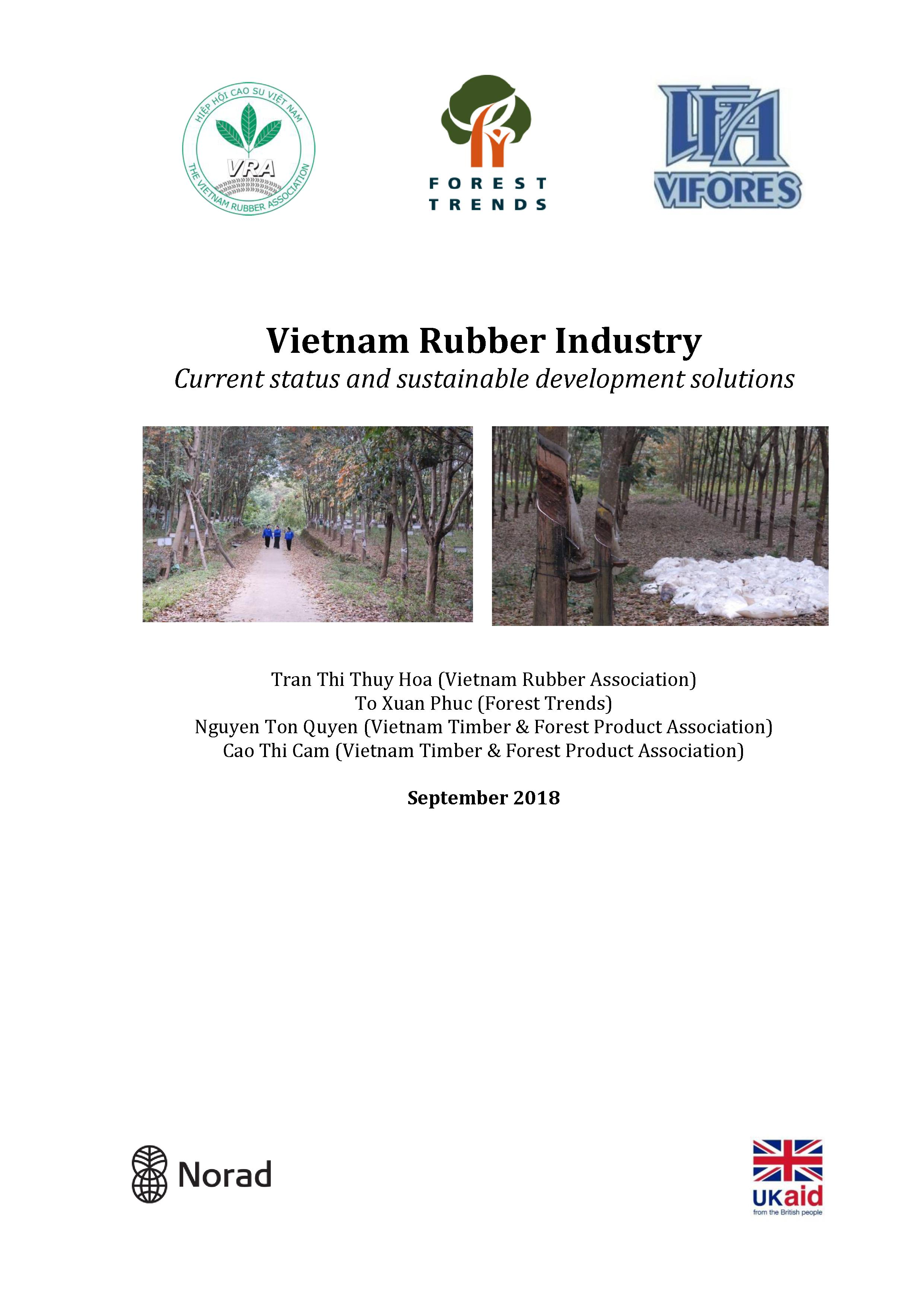 Vietnam Rubber Industry: Current status and sustainable development solutions